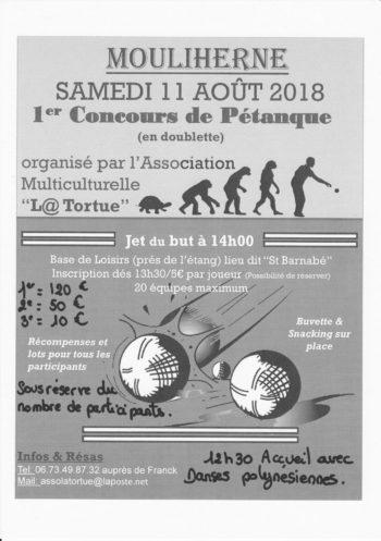 affiche pétanque tortue 2018