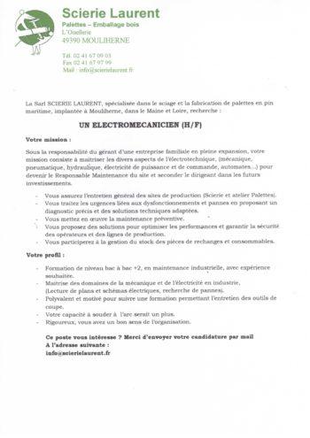 Annonce Scierie LAURENT